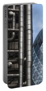 Lloyds Of London And The Gherkin Building Portable Battery Charger