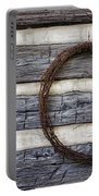 Log Cabin And Barbed Wire Portable Battery Charger
