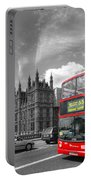 London Big Ben And Red Bus Portable Battery Charger