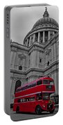 London Bus At St. Paul's Portable Battery Charger