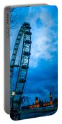 London Eye At Westminster Portable Battery Charger
