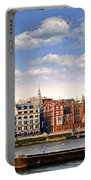 London Skyline From Thames River Portable Battery Charger