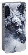 Lone Wolf In Snow Portable Battery Charger
