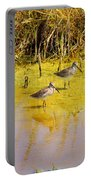 Long Billed Dowitchers Migrating Portable Battery Charger