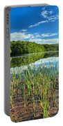 Long Branch Lake Marsh Portable Battery Charger by Adam Jewell