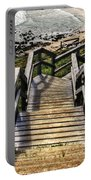 Long Stairway To Beach 2 Portable Battery Charger