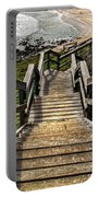 Long Stairway To Beach Portable Battery Charger