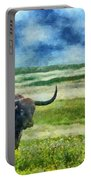 Longhorn Prarie Portable Battery Charger by Jeff Kolker