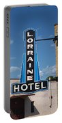 Lorraine Hotel Sign Portable Battery Charger
