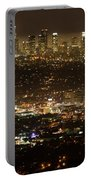 Los Angeles  City View At Night  Portable Battery Charger