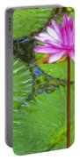Lotus Blossom And Water Lily Pads Portable Battery Charger