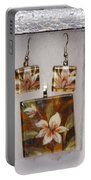Lotus Flower Pendant And Earring Set Portable Battery Charger