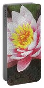 Lotus In The Rain 3 Portable Battery Charger