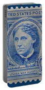 Louisa May Alcott Postage Stamp  Portable Battery Charger