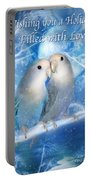 Love At Christmas Card Portable Battery Charger