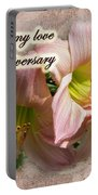 Love On Anniversary - Lilies And Lace Portable Battery Charger