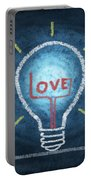 Love Word In Light Bulb Portable Battery Charger