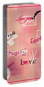Love Words - Valentine's Card Portable Battery Charger