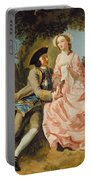 Lovers In A Landscape Portable Battery Charger