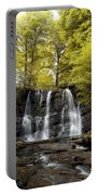 Low Angle View Of A Waterfall In A Portable Battery Charger