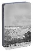 Low Winter Storm Clouds Colorado Rocky Mountain Foothills 7 Bw Portable Battery Charger