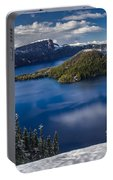 Luminous Crater Lake Portable Battery Charger