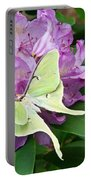 Luna Moth On Rhododendron 1 Portable Battery Charger