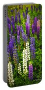 Lupins In Newfoundland Meadow Portable Battery Charger