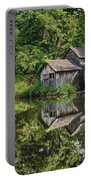 Mabry Mill And Pond With Reflection Portable Battery Charger