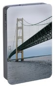 Mackinac Bridge From Water Portable Battery Charger