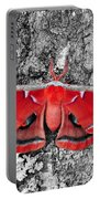 Madam Moth - Red White And Black Portable Battery Charger