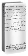 Madame De Stael Letter Portable Battery Charger