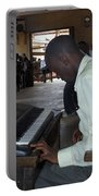 Madona Playing Piano In Nigerian Church Portable Battery Charger