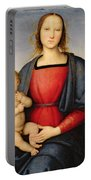 Madonna And Child Portable Battery Charger by Pietro Perugino