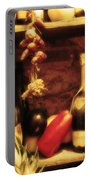 Madrid Food And Wine Still Life I Portable Battery Charger