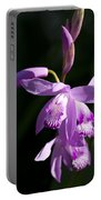 Magenta Hardy Chinese Orchids - Bletilla Portable Battery Charger
