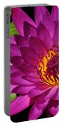 Magenta Waterlily Portable Battery Charger