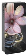 Magnolia Blossom In Glass Mug Portable Battery Charger