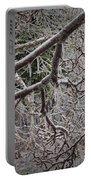 Magnolia Tree Branches Covered With Ice No.3834 Portable Battery Charger