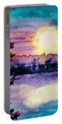 Maine October Sunset Portable Battery Charger