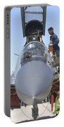 Maintainers Prepare A Sukhoi Su-30 Portable Battery Charger