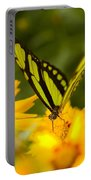 Malachite Butterfly On Flower Portable Battery Charger