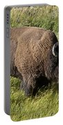 Male Bison Grazing  Portable Battery Charger