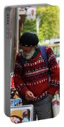 Man In A Red Sweater Portable Battery Charger