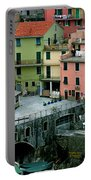 Manarola Houses On The Cinque Terre II Portable Battery Charger