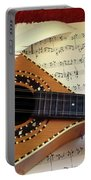 Mandolin And Partiture Portable Battery Charger