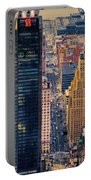 Manhattan Streets From Above Portable Battery Charger