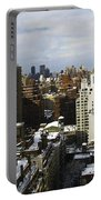 Manhattan View On A Winter Day Portable Battery Charger
