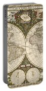 Map Of The World, 1660 Portable Battery Charger