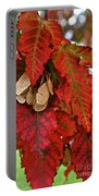 Maple Leaves And Seeds Portable Battery Charger